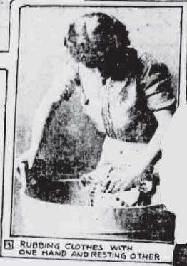 3 - Rubbing Clothes with One Hand, Resting Other