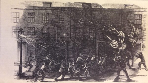 Flaming Ballerinas Plunging to their Deaths (From Frank Leslie's Illustrated News, Sept. 28, 1861)
